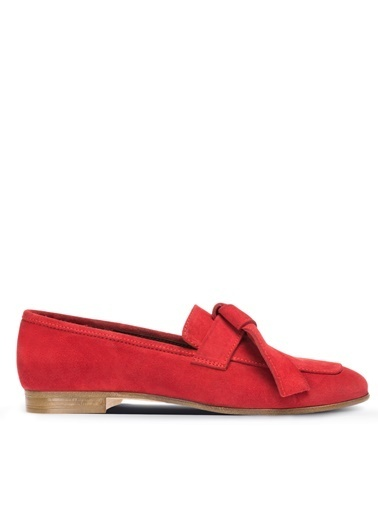 Deery Hakiki Deri  Ayakkabı Kırmızı